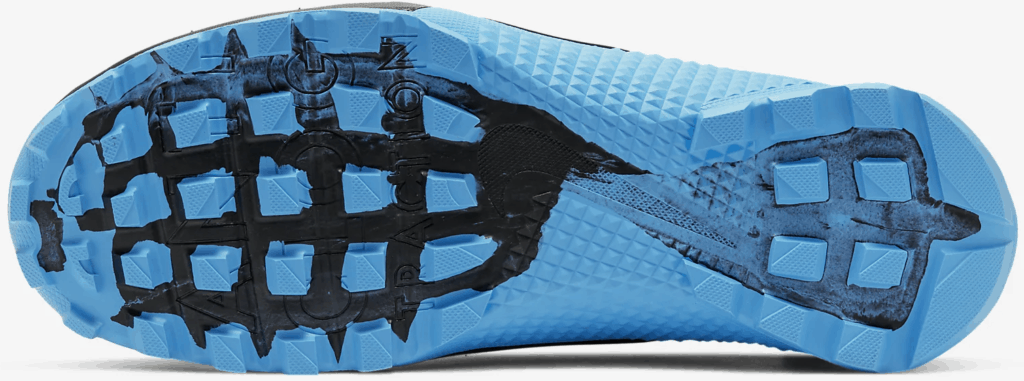 Nike MetconSF shoe for mud runs and OCRs - Black/Light Current Blue/Black