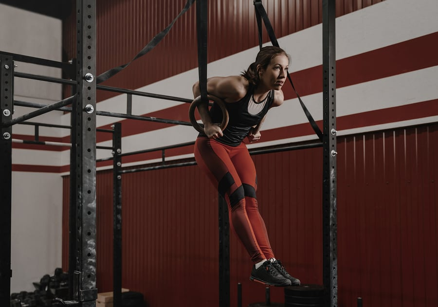 Muscle-ups on Olympic rings
