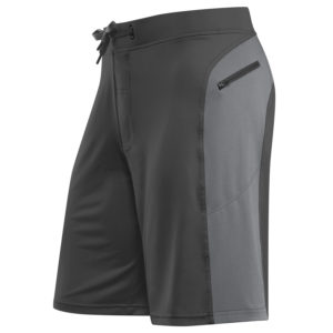 Front view of the Helix II men's workout short from Hylete - best for CrossFit - Gun Metal/Cool Gray