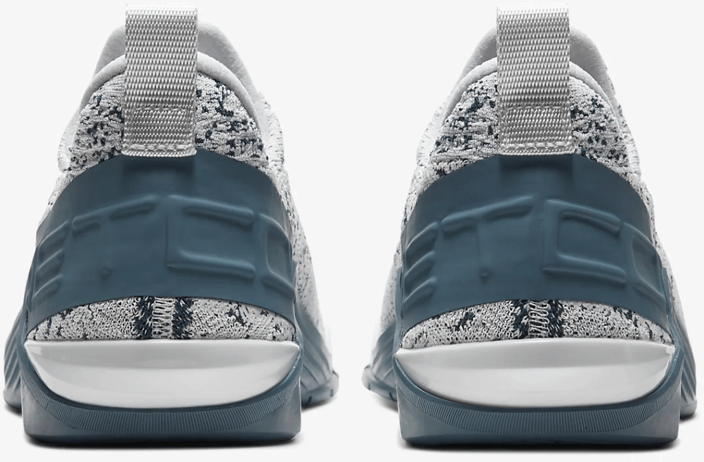 Heel view of the Nike React Metcon - Light Armory Blue/Thunderstorm/Black