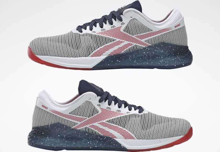 Reebok Nano 9 Men's Training Shoe for CrossFit - White / Collegiate Navy / Primal Red
