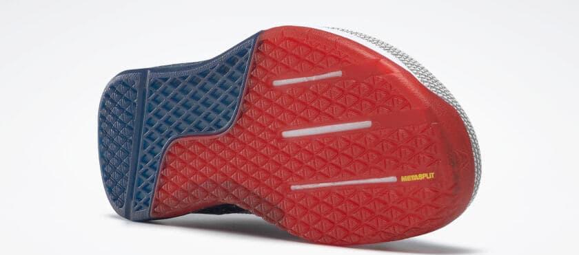 Metasplit of the Reebok Nano 9 Men's Training Shoe for CrossFit - White / Collegiate Navy / Primal Red