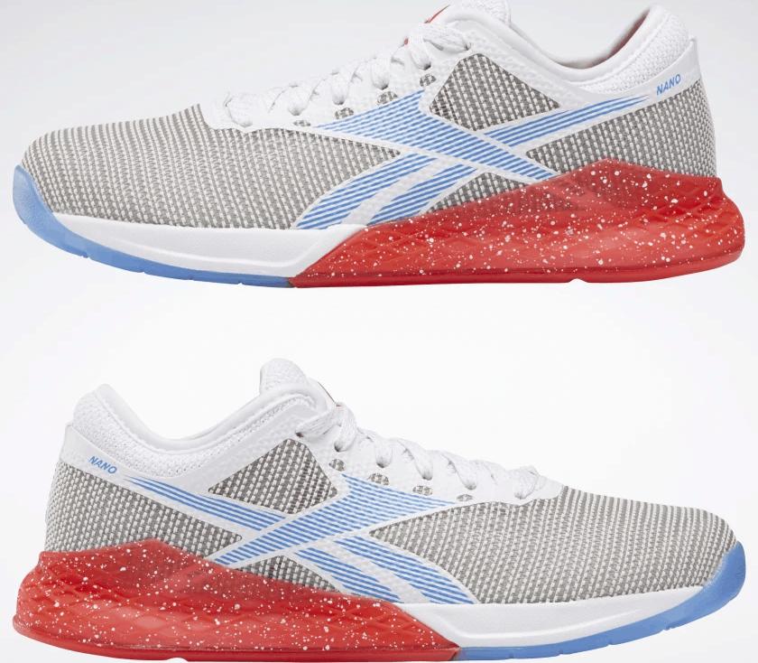 Reebok Nano 9 Women's Training Shoe for CrossFit - White / Radiant Red / Blue Blast
