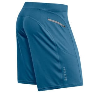 Back view of the Men's workout shorts for CrossFit - Helix II from Hylete in Agean/Agean
