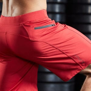 flex of the Helix II Men's Workout Short for CrossFit and HIIT - Brick