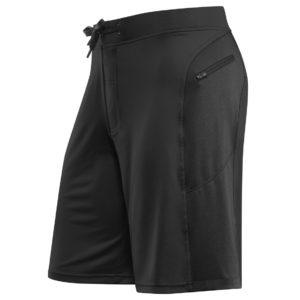 Front view of Hylete Helix II workout shorts for men - black