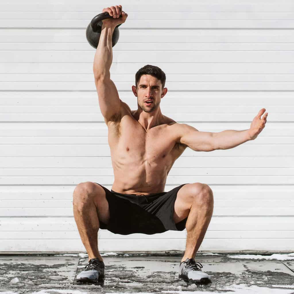 Kettlebell lift Hylete Helix II workout shorts for men - black