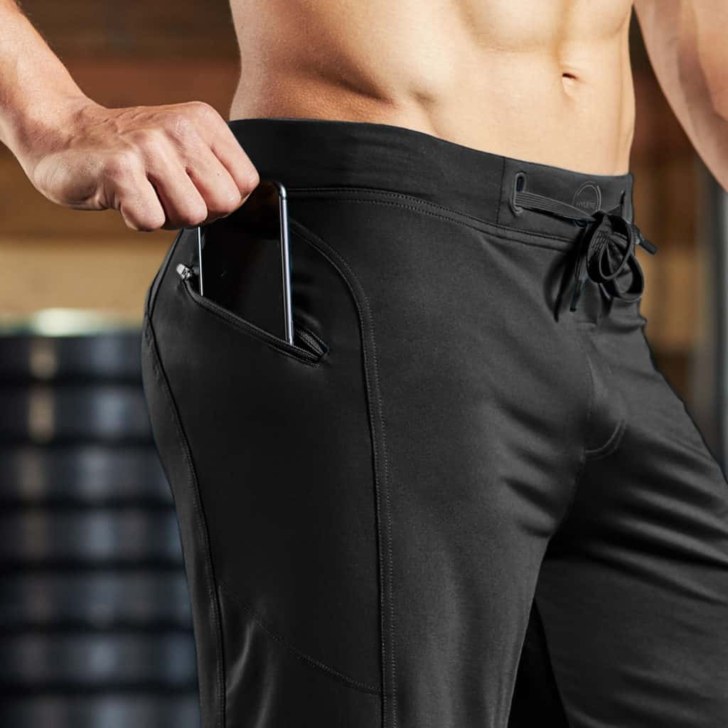 deadlift in the Hylete Helix II workout shorts for men - black