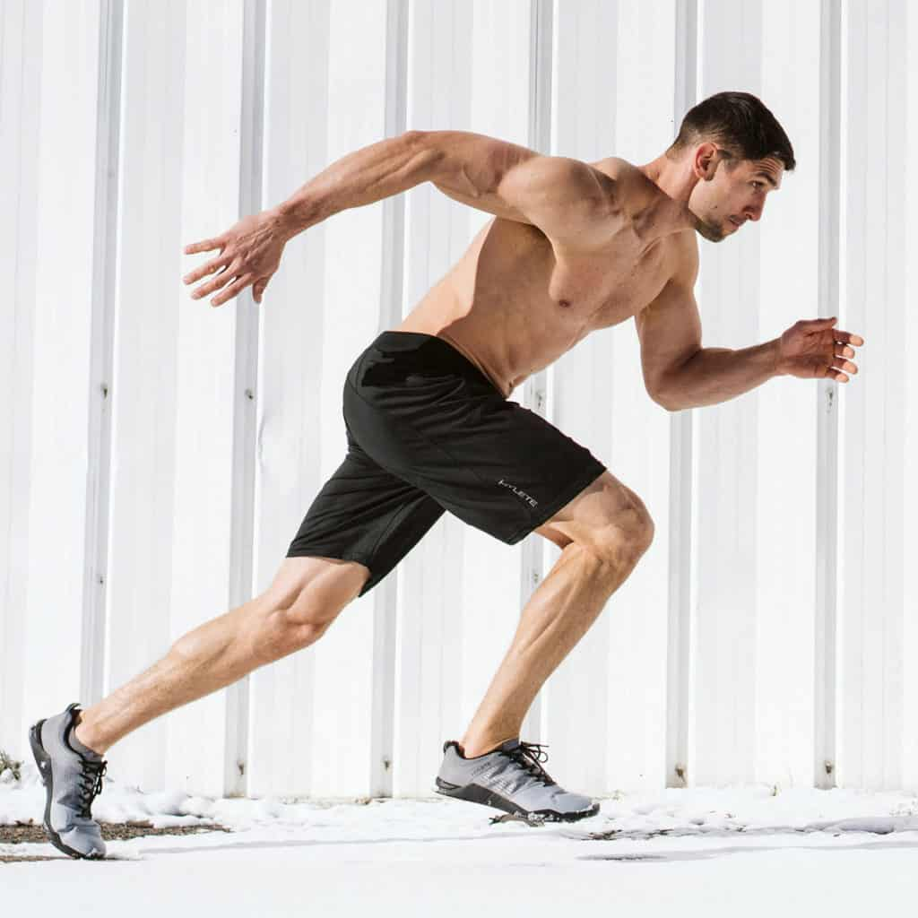 Run in the Hylete Helix II workout shorts for men - black