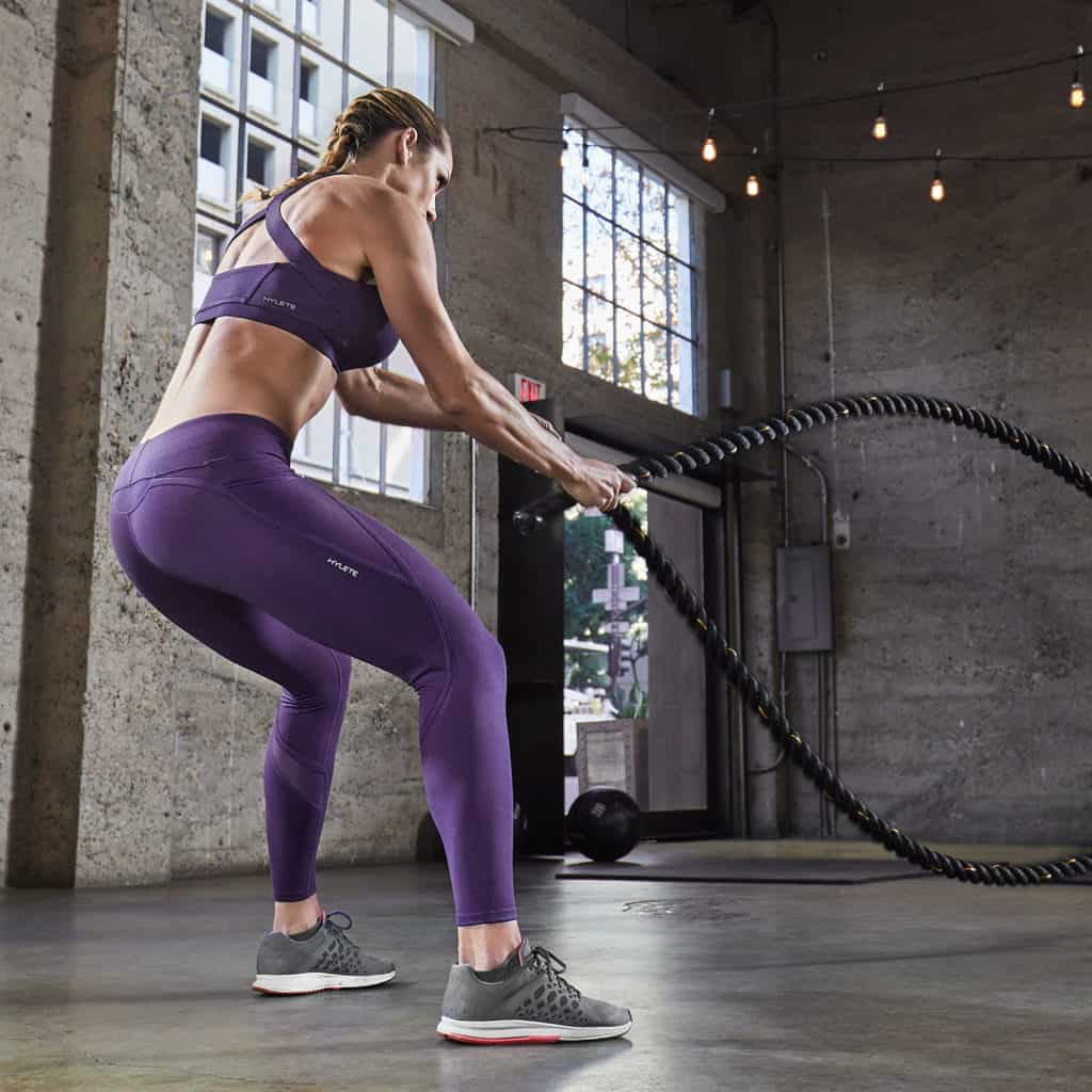 Nimbus Tights in the gym - work great for CrossFIt, HIIT, Yoga, Boot Camp , and more.