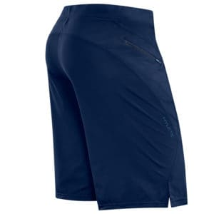 Back of Men's Workout Short for CrossFit - Hylete Verge II in Navy/Navy