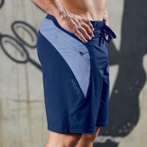 Hylete Verge II Men's Workout Shorts - Navy/Delta  as worn