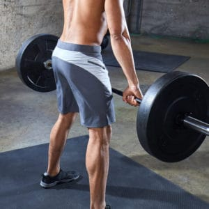 Deadlift with Hylete Verge II Workout Shorts for Men
