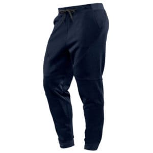 Front view of the Hylete Workout Pants for Men - Heather Navy