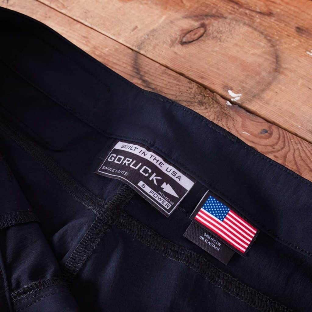 GORUCK Simple Pants - Power for Women are made in the USA