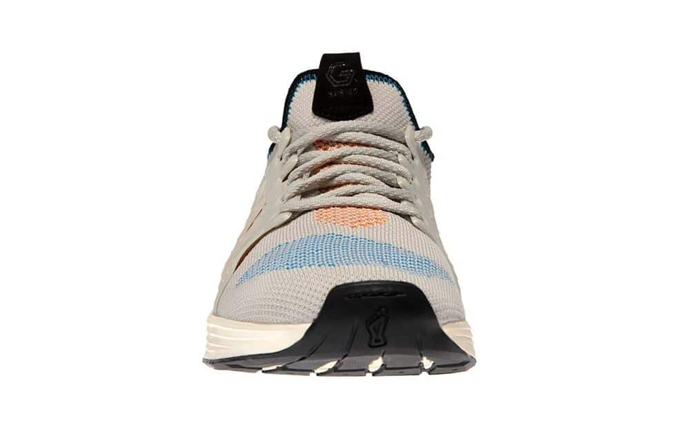 Front view of the Inov-8 F-Lite G 300 CrossFit Shoe for WOD - White/Blue/Orange