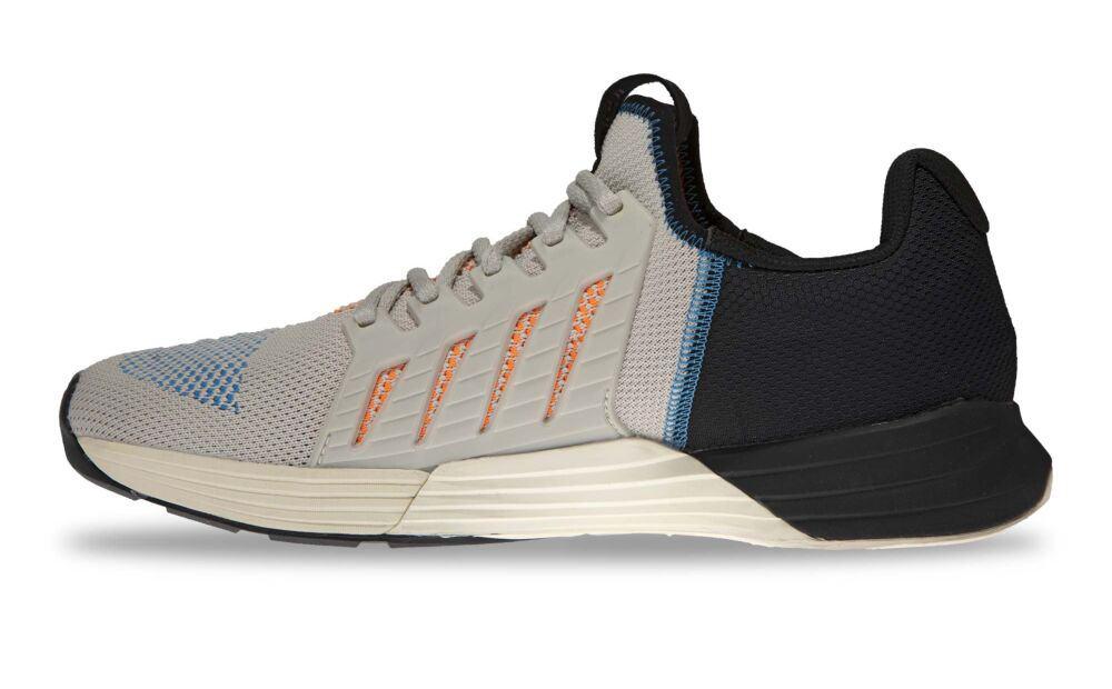 Side view of the Inov-8 F-Lite G 300 CrossFit Shoe for WOD - White/Blue/Orange