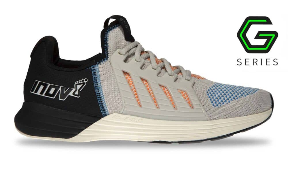 Other side of the Inov-8 F-Lite G 300 CrossFit Shoe for WOD - White/Blue/Orange