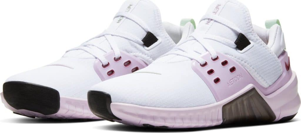 Quarter view of the New Nike Free x Metcon 2 Women's Cross Trainer - U Complete Me for Valentine's Day