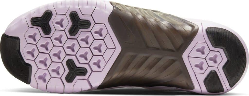 Sole of the New Nike Free x Metcon 2 Women's Cross Trainer - U Complete Me for Valentine's Day