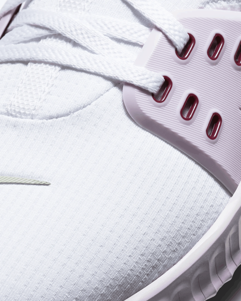 Mesh upper of the Nike Free X Metcon2 Women's Cross Trainer for CrossFit WOD - White/Iced Lilac/Black/Noble Red