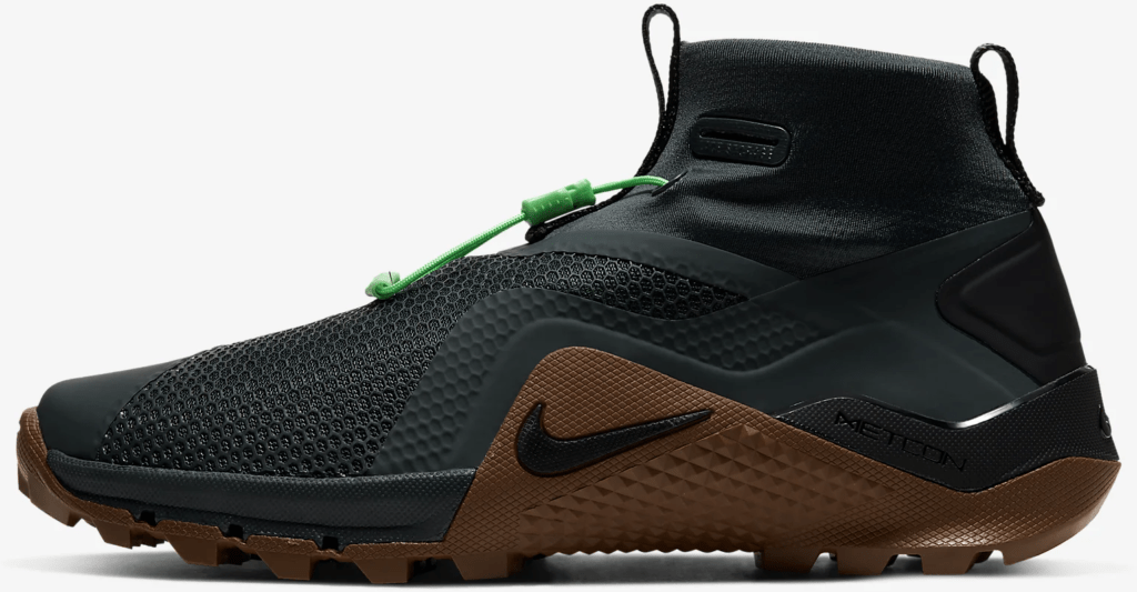 Medial rope grip of the Nike MetconSF shown here in Seaweed/Light British Tan/Green Spark/Black