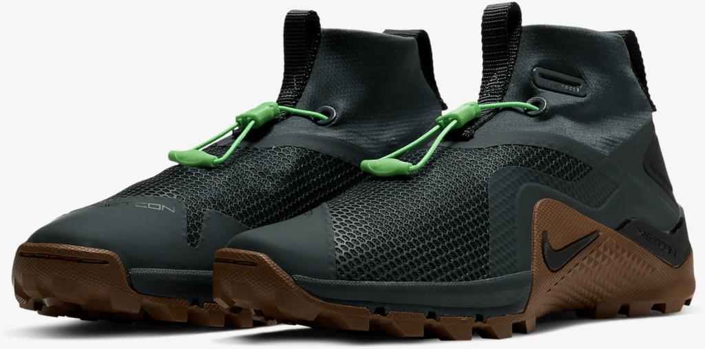 The Nike MetconSF shown here in Seaweed/Light British Tan/Green Spark/Black
