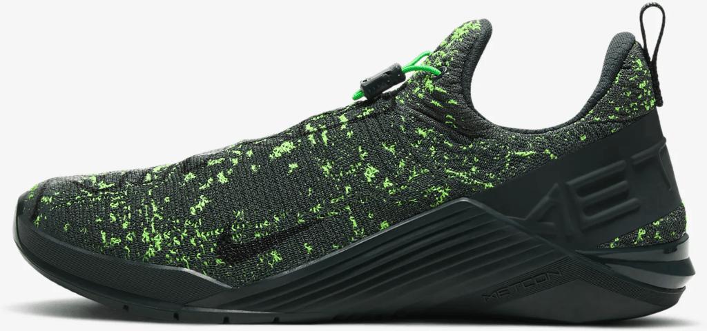 left view of Nike React Metcon Men's CrossFit Training Shoe in Seaweed/Green Spark/Vintage Green