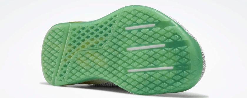 Reebok Nano 9 Women's Cross Training Shoe for CrossFit in White / Matte Gold / Pure Grey 2