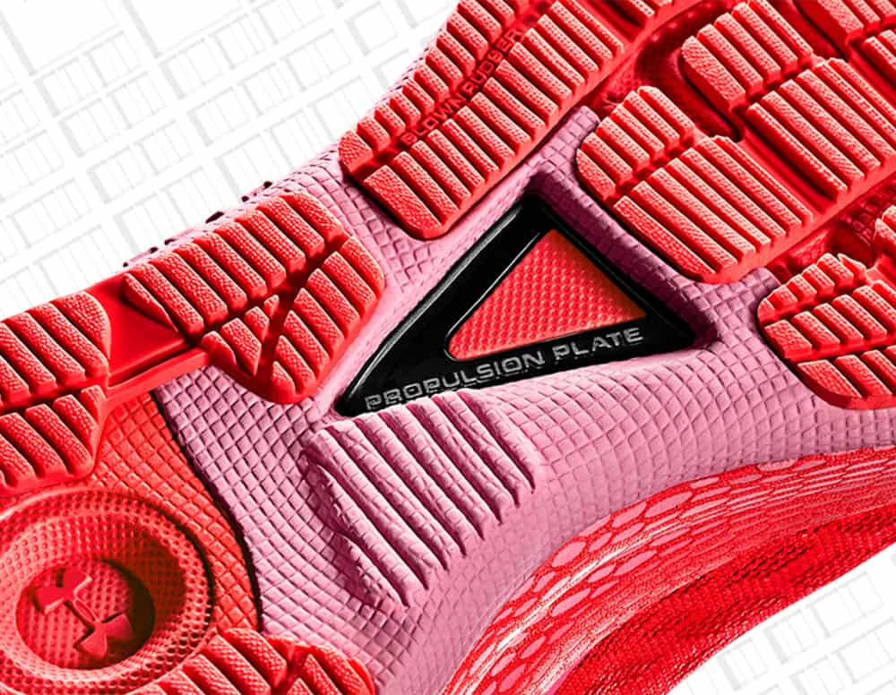 Propulsion plate of the UA HOVR Machina Running Shoe