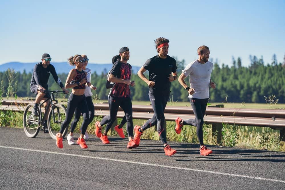 Runners with the UA HOVR Machina Running Shoe