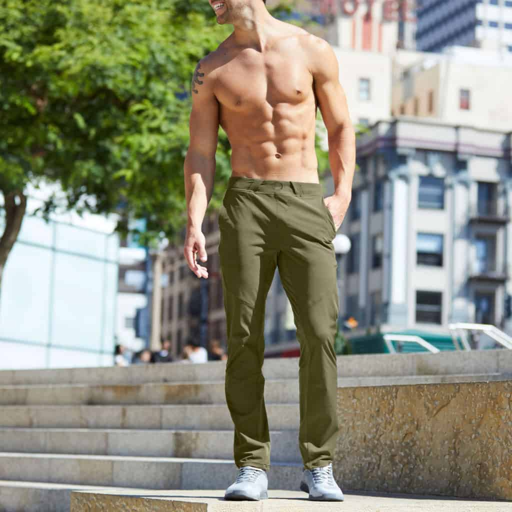 Hylete Ion Pant - CrossFit Workout Pants for Men - in Olive in the park