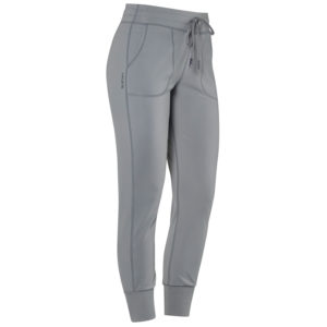 Front view of Hylete Urban Jogger Workout Sweatpants for Women in Cool Gray