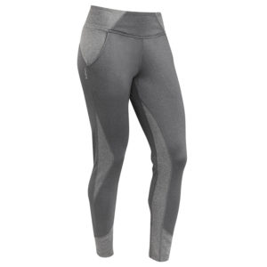 Front view of Hylete Flexion Workout Pants for Women - Heather Slate