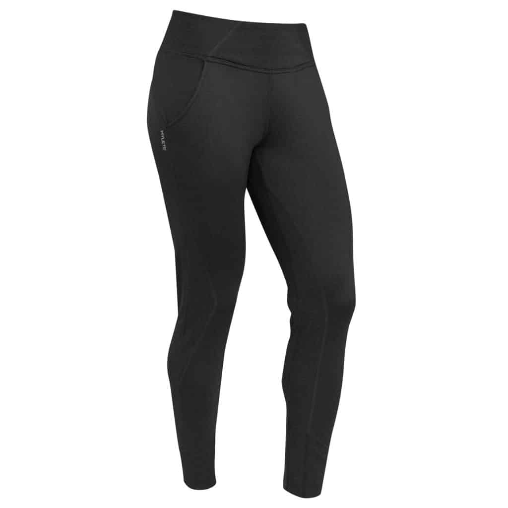 Front view of Hylete Flexion Pants - Workout Pants for Women in Black