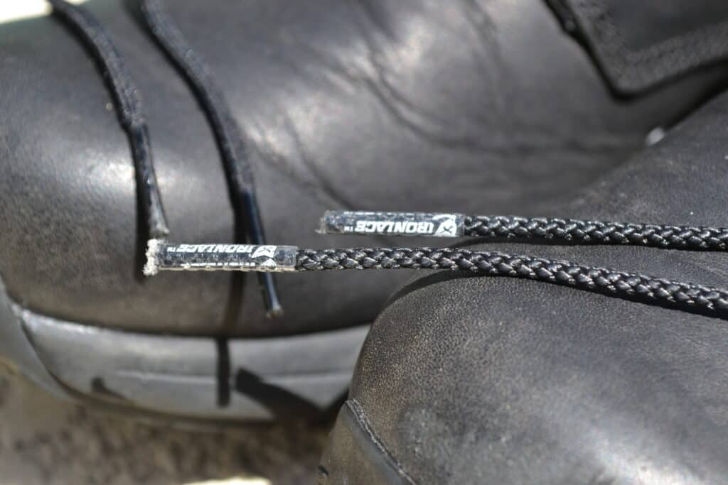 IRONLACES Unbeakable Boot Laces on GORUCK MACV-1 Ruck Boot - Tips Closeup 3