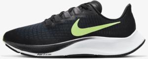 Nike Air Zoom Pegasus 37 Running Shoe in Black/Valerian Blue/Spruce Aura/Ghost Green