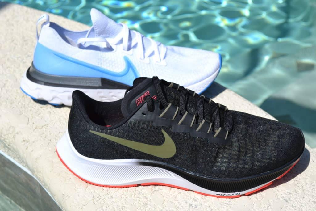 Nike Air Zoom Pegasus 37 versus React Infinity Run Flyknit - side by side