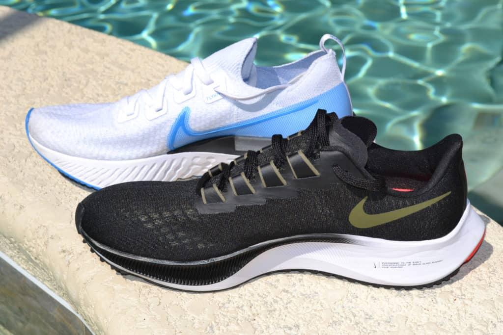 Nike Air Zoom Pegasus 37 versus React Infinity Run Flyknit side by side