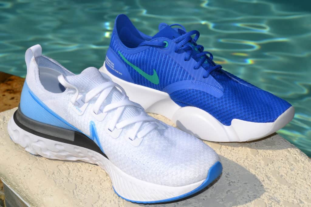Nike SuperRep Go Training Shoe versus Nike React Infinity Run Flyknit Running Shoe