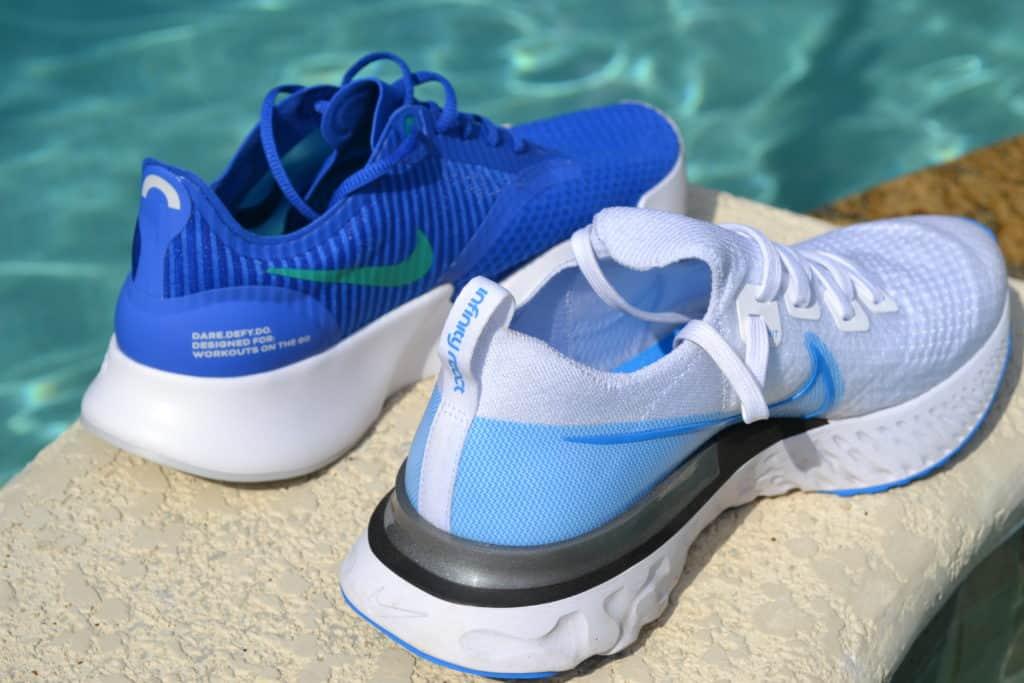 Nike SuperRep Go Training Shoe versus Nike React Infinity Run Flyknit Running Shoe Heel Again