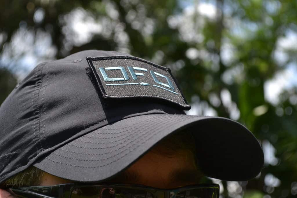 GORUCK TAC Hat with a DFQ patch up front