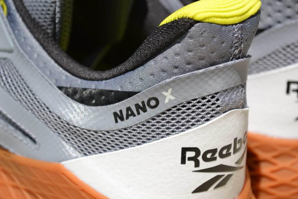 Reebok Nano X Cross Training Shoe - Heel Closeup