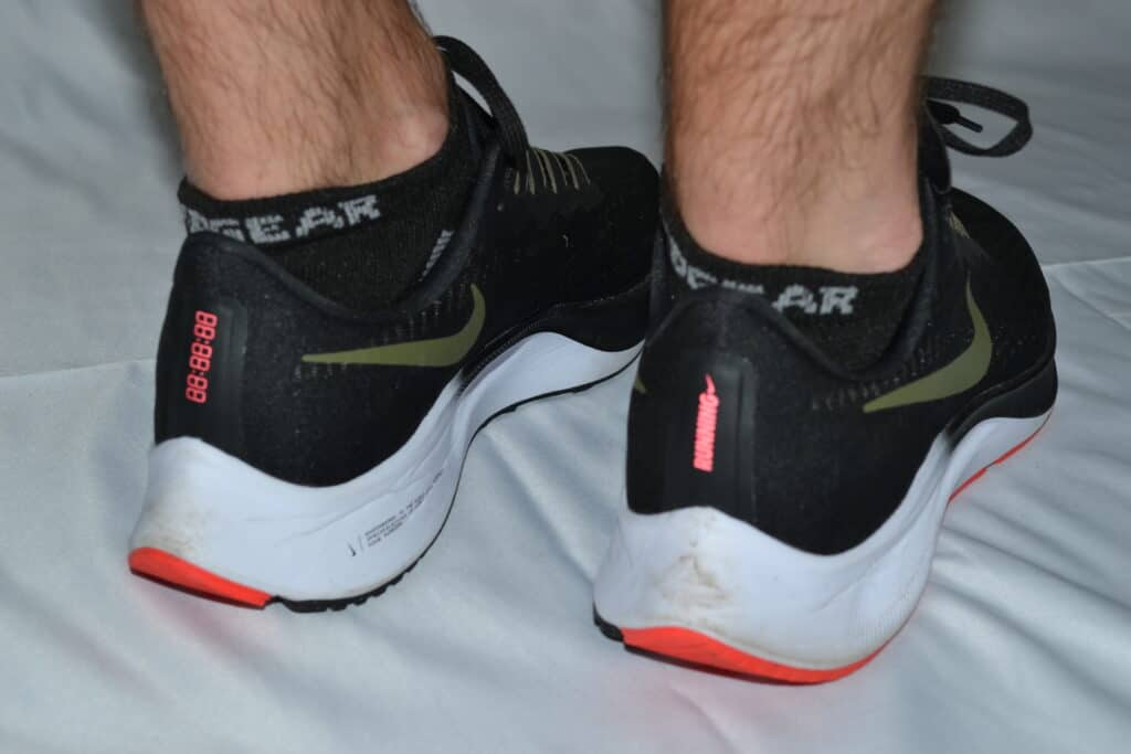 MudGear No-Show Running Socks - Black/Gray