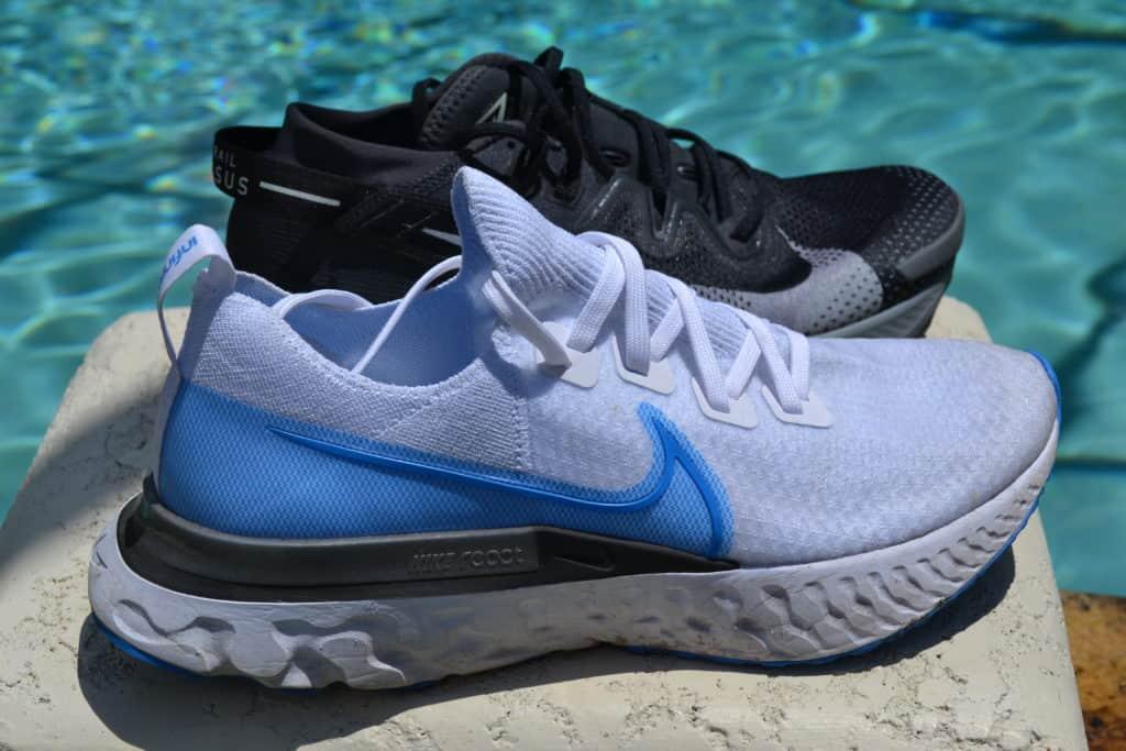 Nike Pegasus Trail 2 Running Shoe Versus React Infinity Run Flyknit side by side
