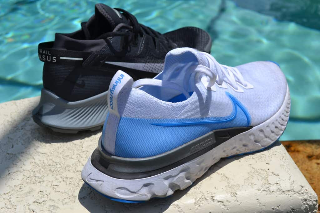 Nike Pegasus Trail 2 Running Shoe Versus React Infinity Run Flyknit lots of foam