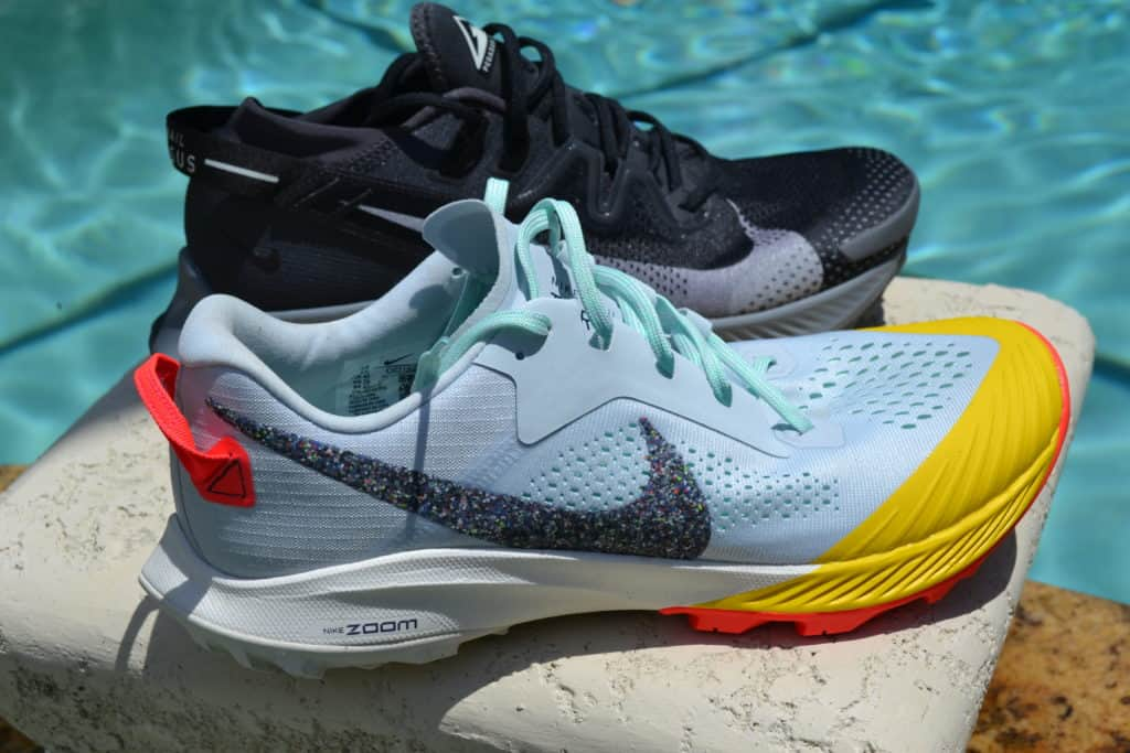 Nike Pegasus Trail 2 Running Shoe Versus Terra Kiger 6 - side by side