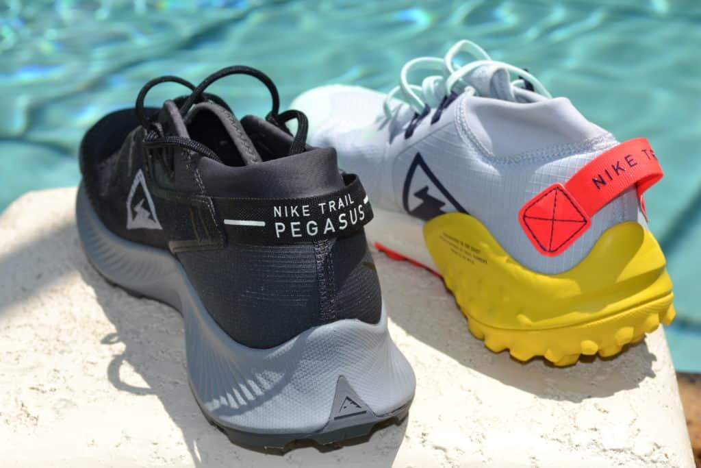 Nike Pegasus Trail 2 Running Shoe Versus Wildhorse 6 - Heel view