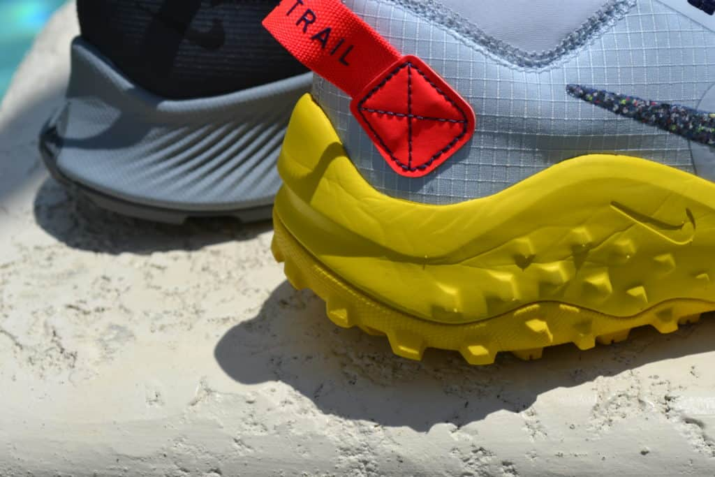 Nike Pegasus Trail 2 Running Shoe Versus Wildhorse 6 - Heel closeup
