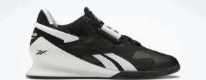 Reebok Legacy Lifter II Women's Weightlifting Shoes in Black / White / Pure Grey 6 - Side
